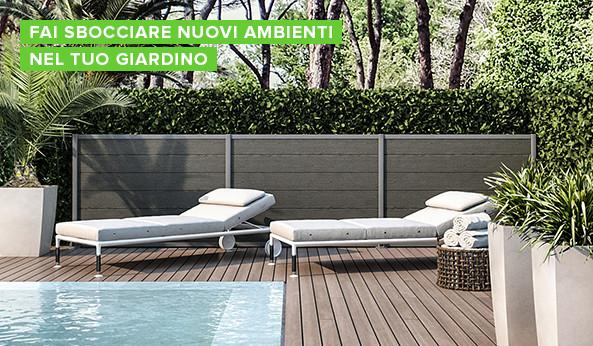 Arredamento giardino terrazzo e giardinaggio offerte e for Divisori giardino leroy merlin