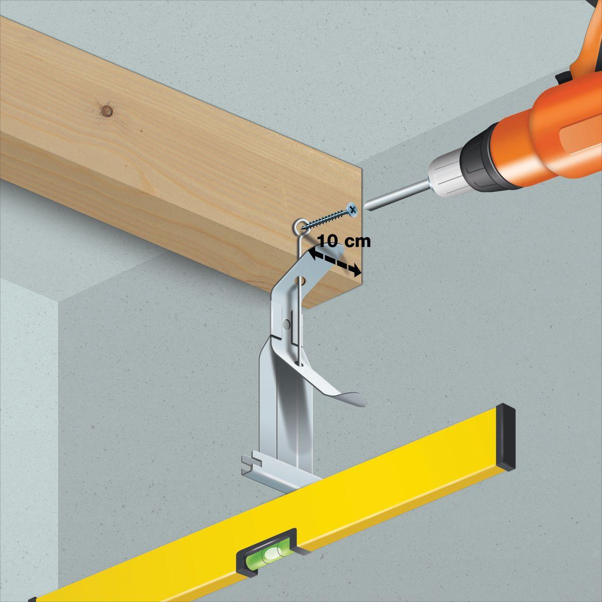Come posare un controsoffitto in cartongesso su legno