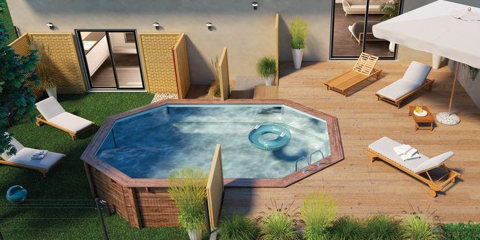 Come creare uno spazio benessere con una piscina in legno fai da te ...