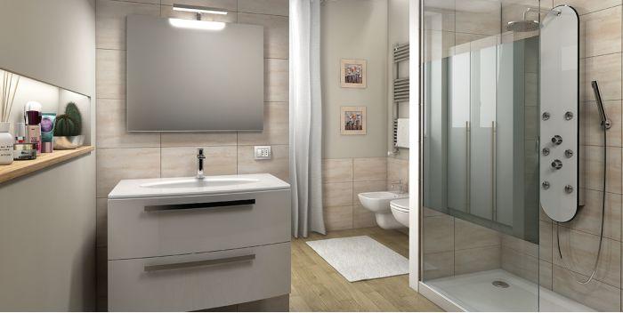 Armadietto Da Bagno Alterna : Organizzare un bagno moderno per dividere spazi e funzioni fai da te