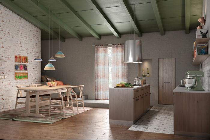 Come arredare una cucina rustica in legno per tutta la famiglia fai ...