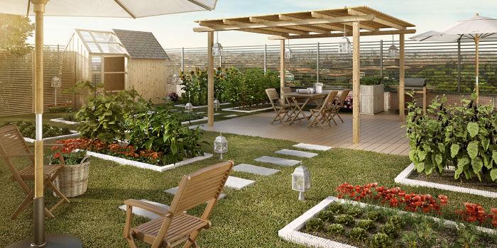 With come fare un giardino piccolo for Laghetto tartarughe terrazzo