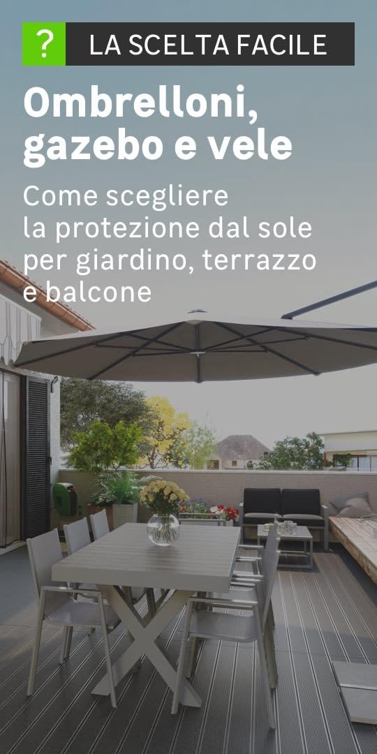 Giardino con ombrellone