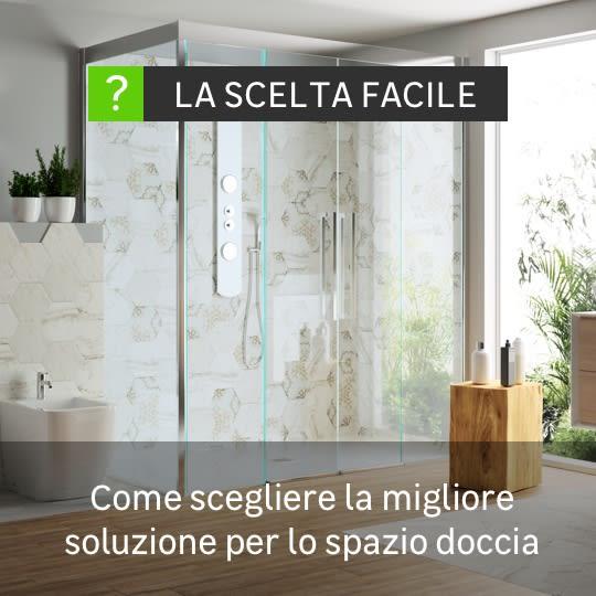Scelta facile spazio doccia