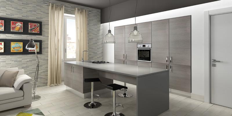 Disegno » Cucine Con Soggiorno A Vista - Ispirazioni Design dell ...