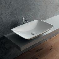 Lavabo da appoggio ovale Pegaso L 58 x P 42 x H 19 cm bianco: prezzi ...