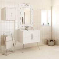 Mobile bagno Barocco bianco vintage L 85 cm: prezzi e offerte online