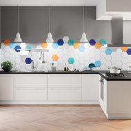 Come realizzare una cucina moderna bianca con tocchi di colore fai ...