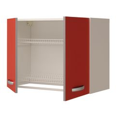 base per lavello spring 2 ante rosso l 80 x h 86 x p 60 cm: prezzi ... - Lavandino Cucina Con Mobile