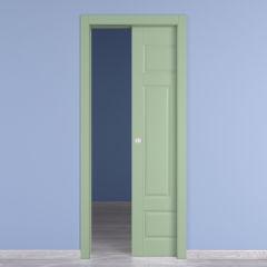 Porta da interno scorrevole new york verde 90 x h 210 cm for Porta 240 cm