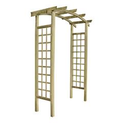 Pergole e porticati in legno prezzi e offerte for Arco per rampicanti leroy merlin