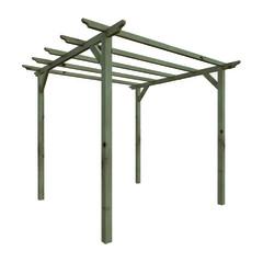 Pergole e porticati in legno prezzi e offerte for Gazebi in legno leroy merlin