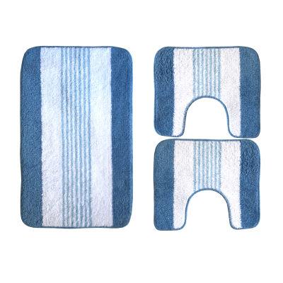 Set tappeti bagno Rigatino azzurro: prezzi e offerte online
