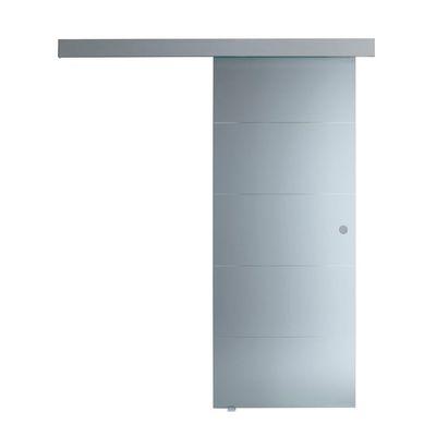 Porta da interno scorrevole Pegaso trasparente 76 x H 215 cm ...