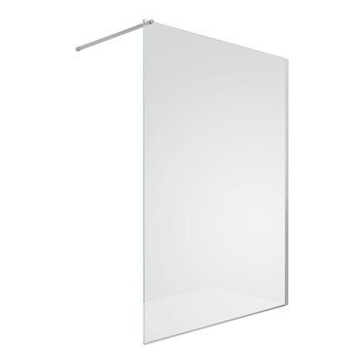 doccia walk-in progress 80, h 195 cm cristallo 8 mm trasparente ... - Progress Arredo Bagno