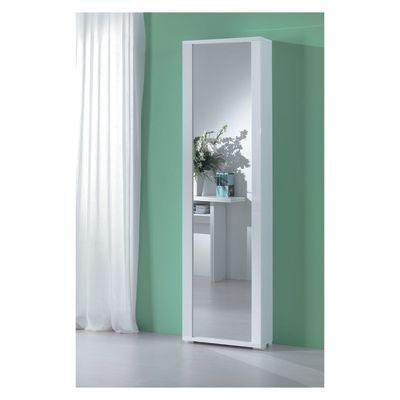Scarpiera 1 anta a battente specchio/bianco: prezzi e offerte online