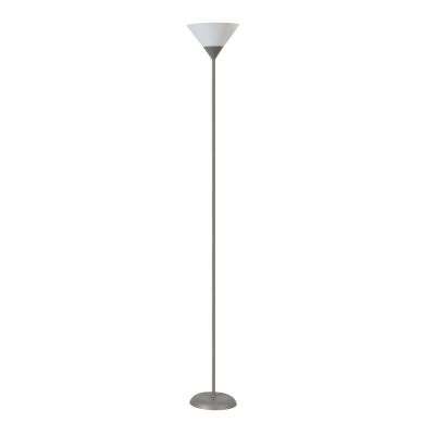 Best da terra argento grigio with lampada da terra for Lampada arco ikea