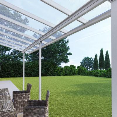Pergola addossata Emilia copertura trasparente 5,48 x 3 m: prezzi e ...