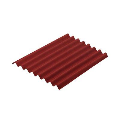 lastra ondulata onduline easyline rosso in bitume 76 x 100 cm