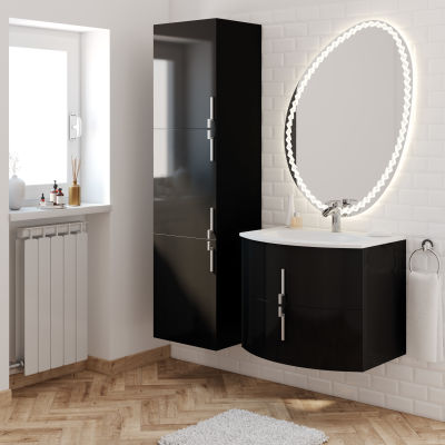 Mobile bagno Sting nero L 69 cm: prezzi e offerte online