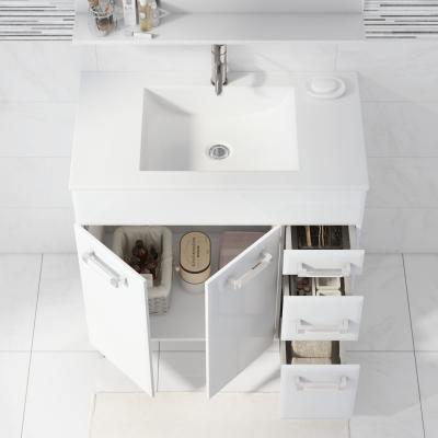 Mobile bagno opale bianco l 80 cm prezzi e offerte online - Mobile bagno 80 cm ...
