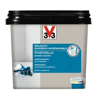 Smalto Per piastrelle V33 grigio cenere satinato 0,75 L: prezzi e ...
