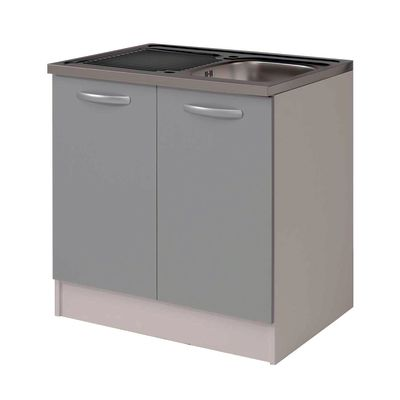 base per lavello spring 2 ante grigio l 80 x h 86 x p 60 cm ... - Basi Per Cucina