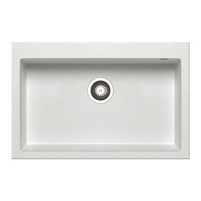 Lavello incasso Voyager bianco L 76 x P 50 cm 1 vasca: prezzi e ...