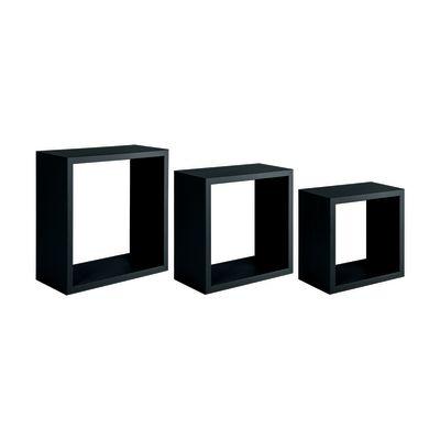 Set 3 cubi Spaceo nero, sp 1,8 cm: prezzi e offerte online