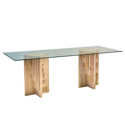 Tavolo Cristallo E Vetro.Tavolo Cristallo E Legno Affordable Tavolo Da Pranzo Moderno In