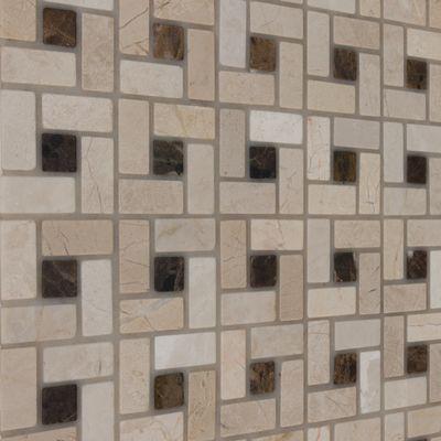 Mosaico Nido Pietracrema 30,5 x 30,5 cm bianco, beige: prezzi e ...
