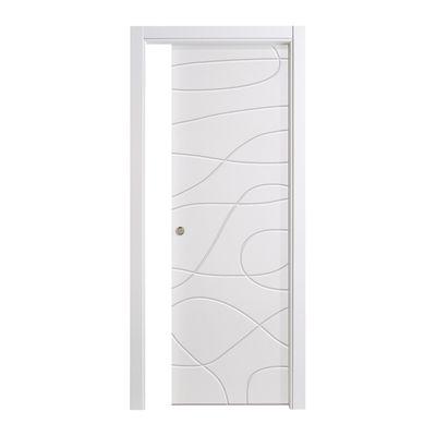 Porta da interno scorrevole Wind white bianco 80 x H 210 cm ...