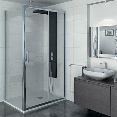 bagno porta doccia scorrevole manhattan 116 120 h 200 cm cristallo 6 mm