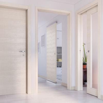 Porta da interno scorrevole Lucad Grano 70 x H 210 cm reversibile ...
