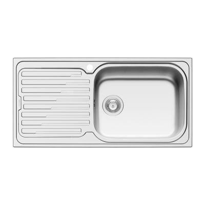 Lavello incasso Amaltia Plus L 100 x P 50 cm 1 vasca DX + ...