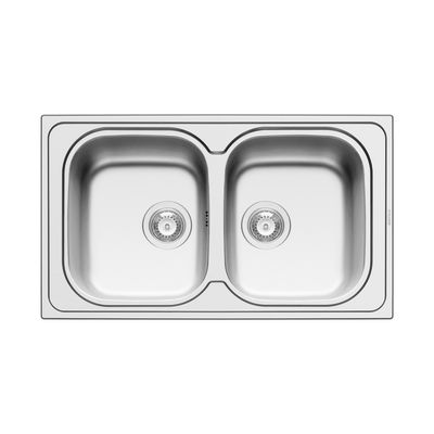 Lavello incasso Amaltia Dekor L 86 x P 50 cm 2 vasche: prezzi e ...