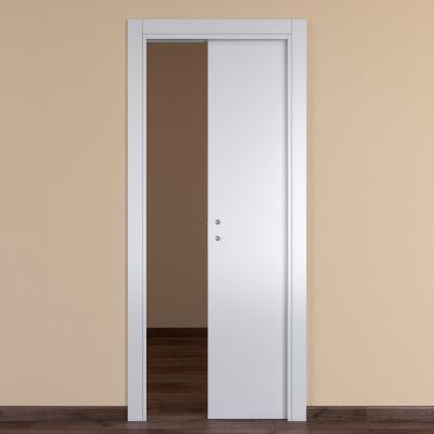 Porta da interno scorrevole One white bianco 60 x H 210 cm ...