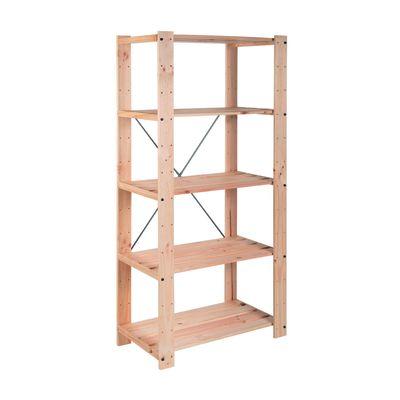 Scaffale legno Evolution 5 ripiani L 76,7 x P 43 x H 174,2 cm ...