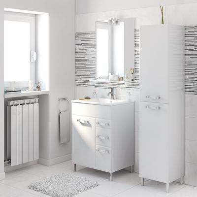 Best mobile bagno 60 cm images - Mobiletto bagno leroy merlin ...