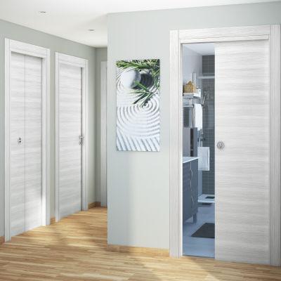 Porta da interno scorrevole Pigalle palissandro bianco 90 x H 210 cm ...