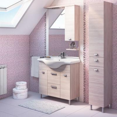 mobili bagno bmt specchiera rimini ante porta asciugamani da terra ... - Arredo Bagno Rimini