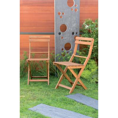 Set 2 sedie pieghevole acacia: prezzi e offerte online