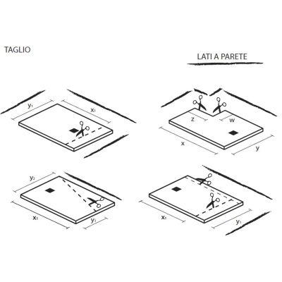 Piatto doccia resina Strato 160 x 80 cm bianco: prezzi e offerte online