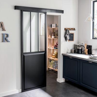Porte, Scale E Finestre Porta Da Interno Scorrevole Atelier Nero 86 X H 215
