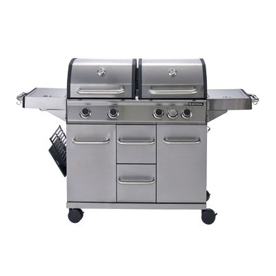 Barbecue a gas naterial hudson 4 bruciatori prezzi e for Bombola gas 5 kg leroy merlin