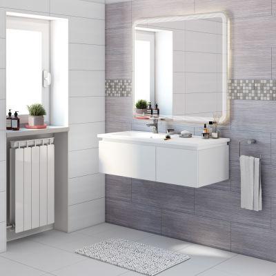 Mobile bagno Avril bianco L 100 cm: prezzi e offerte online