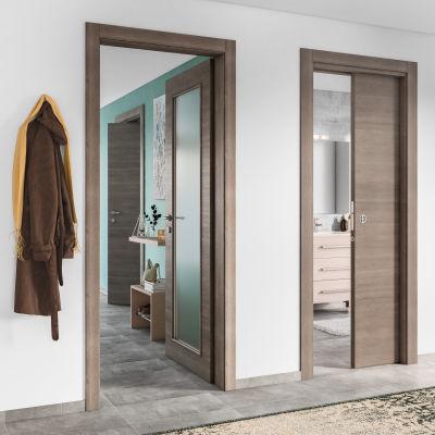 Porta da interno battente Stylish Grigio 60 x H 210 cm reversibile ...