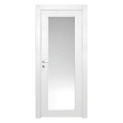 Porta da interno battente Star Vetro Bianco Matrix 70 x H 210 cm ...