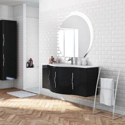 Mobile bagno Sting nero L 138 cm: prezzi e offerte online