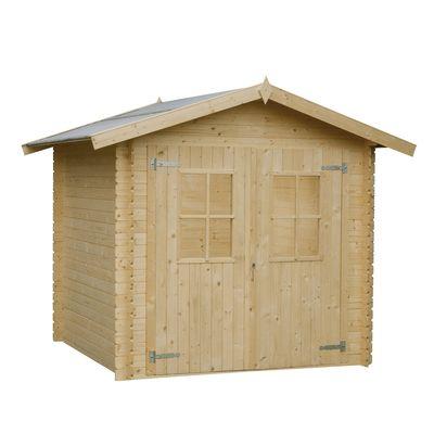 Casetta in legno grezzo dolly 3 45 m spessore 18 mm for Casetta legno bambini leroy merlin